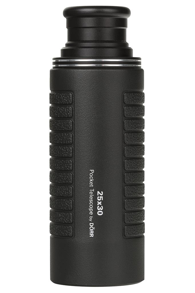 Pocket telescope 25X30 black with rubber armor