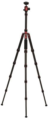 Carbon Tripod HQ-1315 5 sections black/red