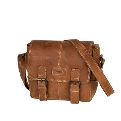 Leather Photo Bag Kapstadt small cognac