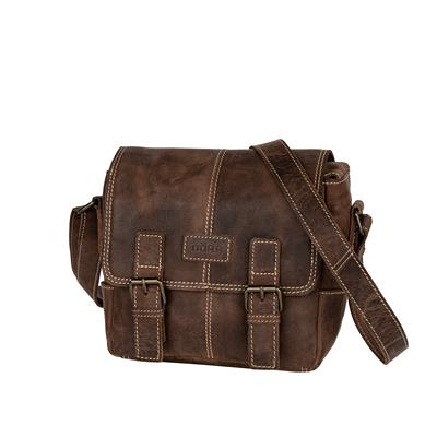 Leather Photo Bag Kapstadt small vintage brown