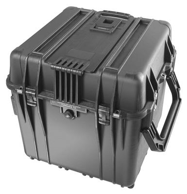 Cube Case 0340 w/Divider Set + Wheels, black
