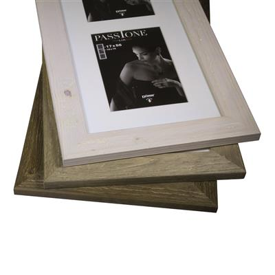 Driftwood wooden Frame 33mm triple 10x15 white