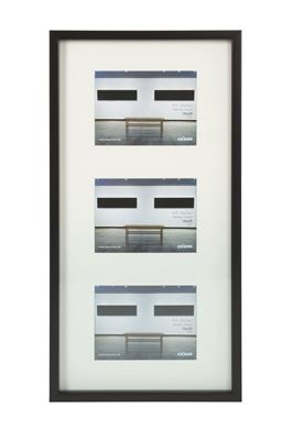 Art Gallery Plastic Frame f.3 pictures 15x20 black