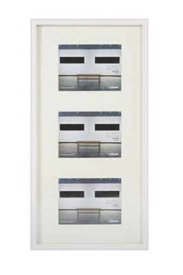 Art Gallery Plastic Frame f.3 pictures 15x20 white
