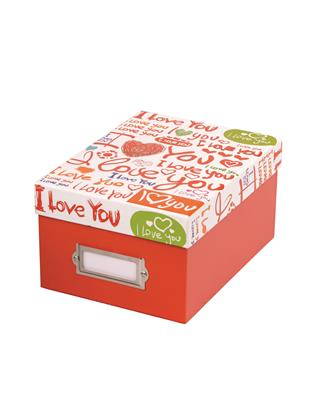 Love Fotobox 10x15 cm red