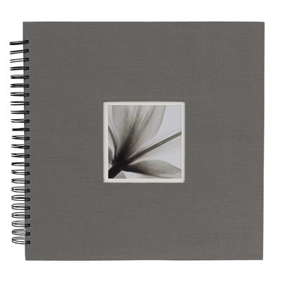 Spiral Album UniTex 34x34 cm grey