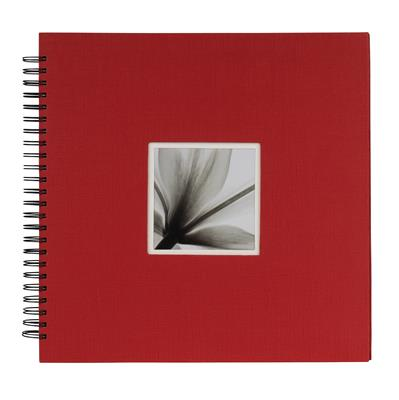 Spiral Album UniTex 34x34 cm red