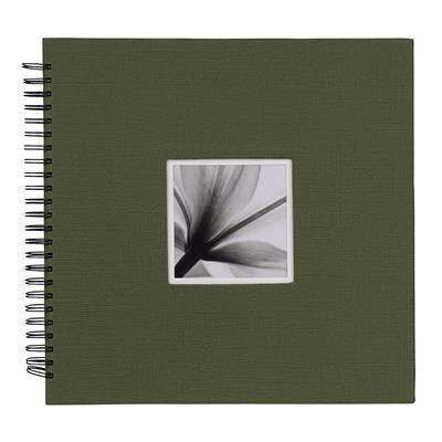 Spiral Album UniTex 34x34 cm green