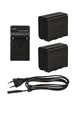 Li-Ion Batteries Kit replace Sony NP-F970 +Charger