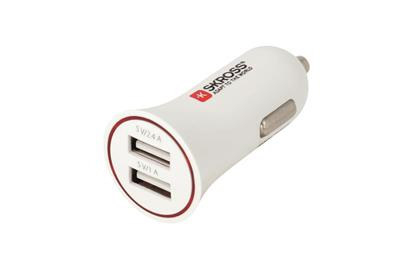 Midget Dual USB Car Charger weiß